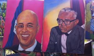Left, Michel Martelly; right, François Duvalier