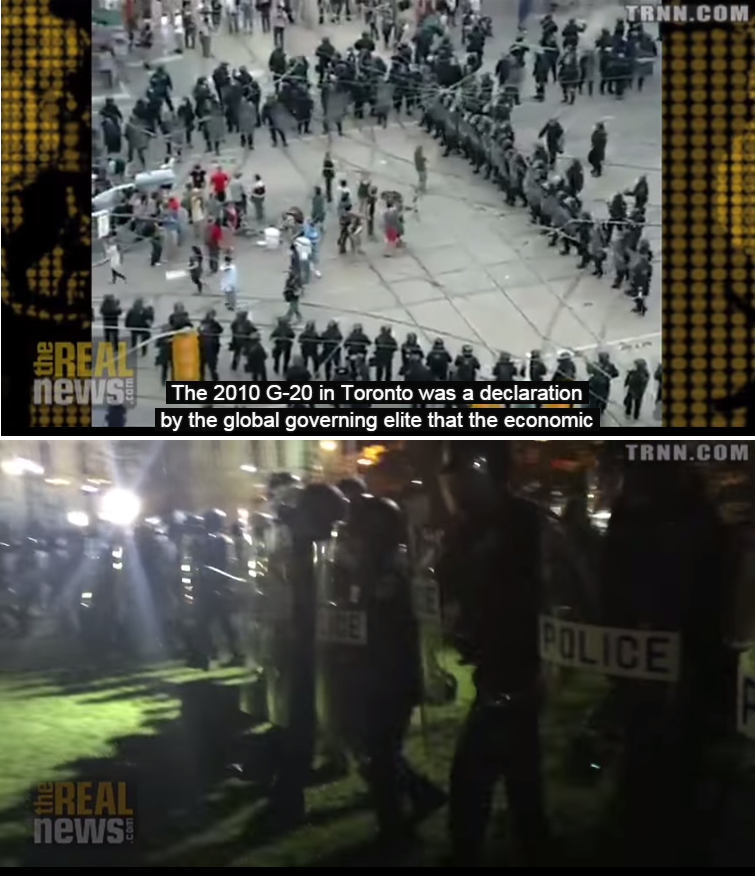 Top: Toronto 2010; Bottom: Baltimore 2015